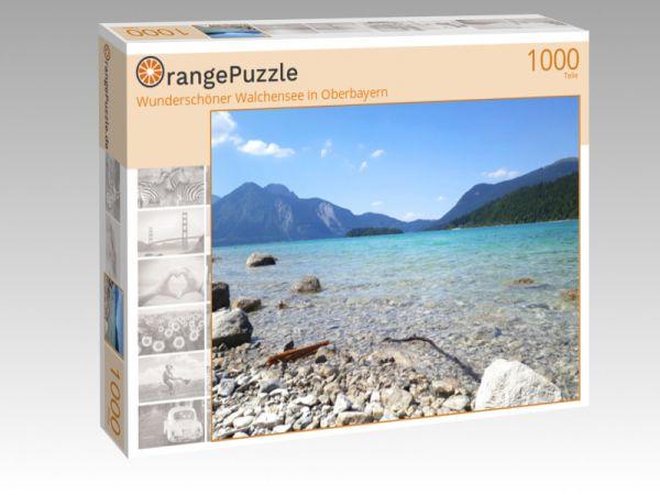 """Puzzle Motiv """"Wunderschöner Walchensee in Oberbayern"""" - Puzzle-Schachtel zu 1000 Teile Puzzle"""