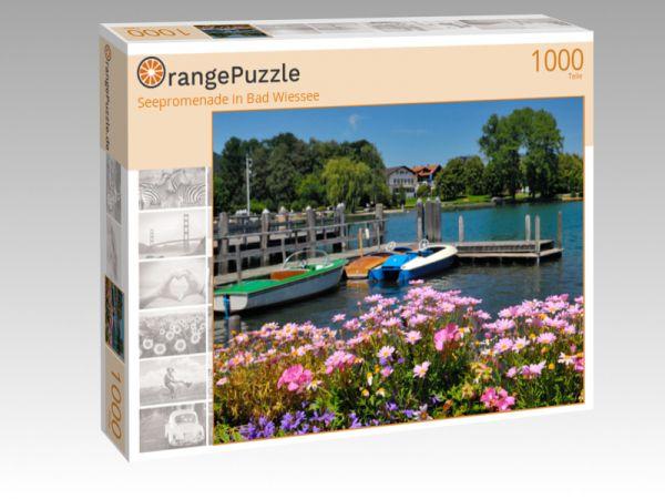 """Puzzle Motiv """"Seepromenade in Bad Wiessee"""" - Puzzle-Schachtel zu 1000 Teile Puzzle"""