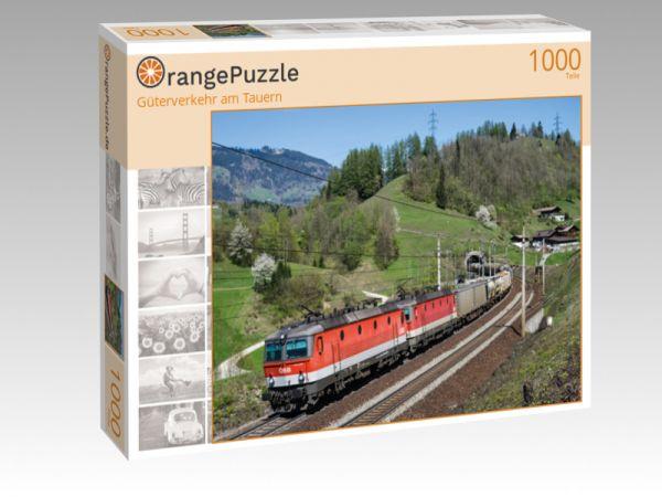 """Puzzle Motiv """"Güterverkehr am Tauern"""" - Puzzle-Schachtel zu 1000 Teile Puzzle"""