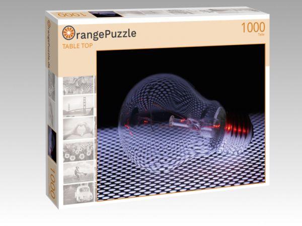 """Puzzle Motiv """"TABLE TOP"""" - Puzzle-Schachtel zu 1000 Teile Puzzle"""