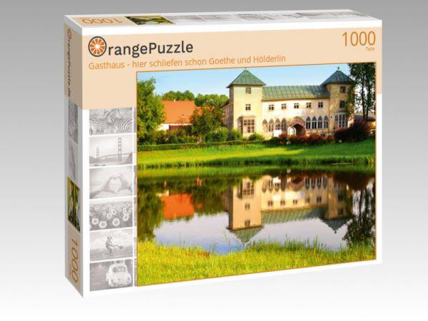 """Puzzle Motiv """"Gasthaus - hier schliefen schon Goethe und Hölderlin"""" - Puzzle-Schachtel zu 1000 Teile Puzzle"""