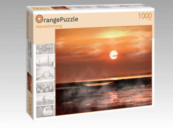 "Puzzle Motiv ""Abendstimmung"" - Puzzle-Schachtel zu 1000 Teile Puzzle"