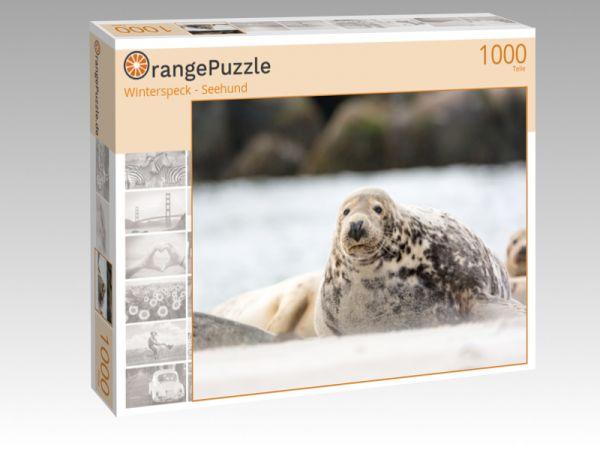 """Puzzle Motiv """"Winterspeck - Seehund"""" - Puzzle-Schachtel zu 1000 Teile Puzzle"""