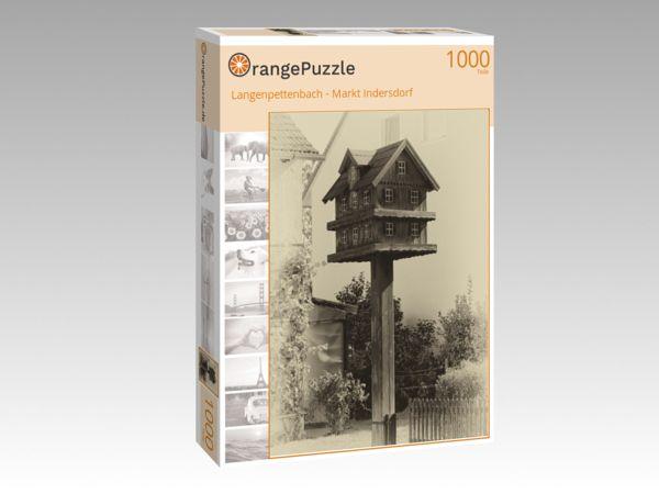 "Puzzle Motiv ""Langenpettenbach - Markt Indersdorf"" - Puzzle-Schachtel zu 1000 Teile Puzzle"