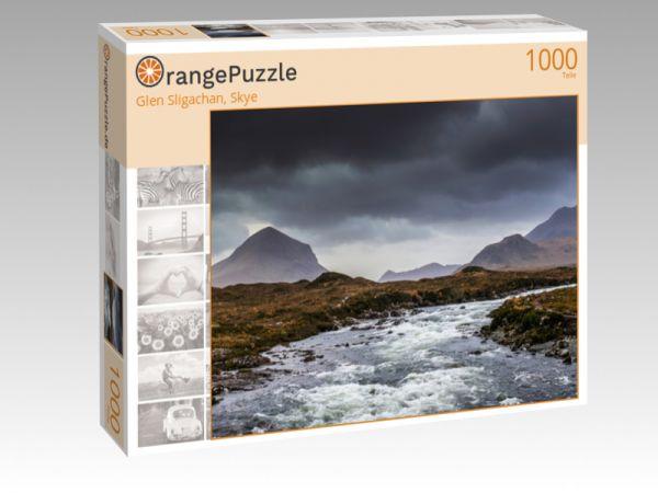 """Puzzle Motiv """"Glen Sligachan, Skye"""" - Puzzle-Schachtel zu 1000 Teile Puzzle"""