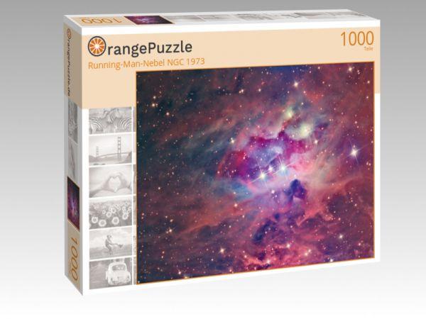 "Puzzle Motiv ""Running-Man-Nebel NGC 1973"" - Puzzle-Schachtel zu 1000 Teile Puzzle"