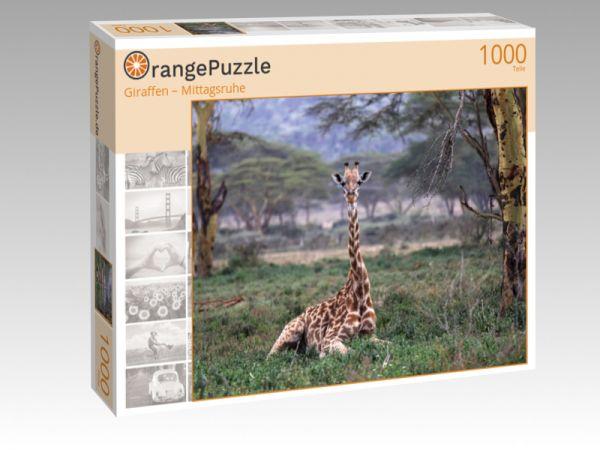 """Puzzle Motiv """"Giraffen – Mittagsruhe"""" - Puzzle-Schachtel zu 1000 Teile Puzzle"""