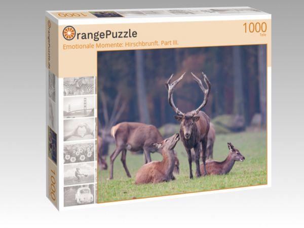 """Puzzle Motiv """"Emotionale Momente: Hirschbrunft. Part III."""" - Puzzle-Schachtel zu 1000 Teile Puzzle"""
