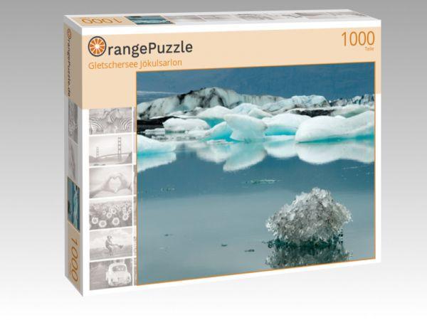 """Puzzle Motiv """"Gletschersee Jökulsarlon"""" - Puzzle-Schachtel zu 1000 Teile Puzzle"""