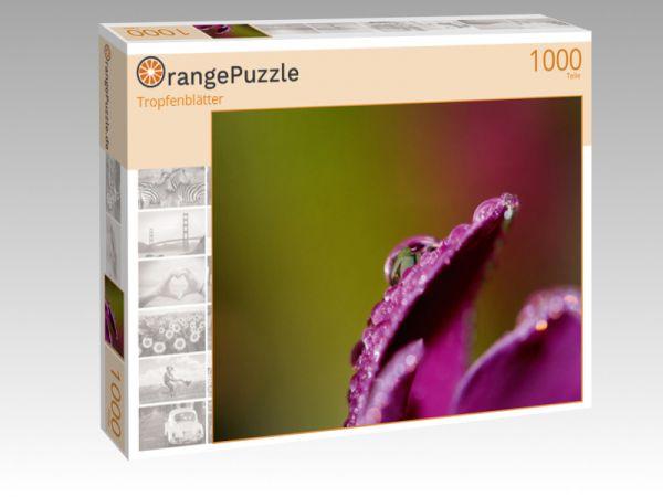 """Puzzle Motiv """"Tropfenblätter"""" - Puzzle-Schachtel zu 1000 Teile Puzzle"""