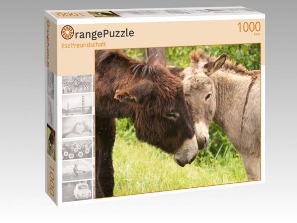 "Puzzle Motiv ""Eselfreundschaft"" - Puzzle-Schachtel zu 1000 Teile Puzzle"