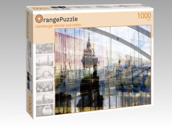 """Puzzle Motiv """"Hamburger Michel und Hafen"""" - Puzzle-Schachtel zu 1000 Teile Puzzle"""