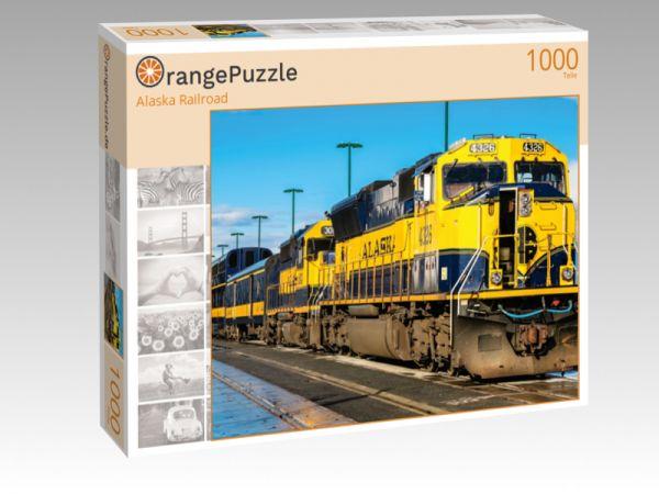 """Puzzle Motiv """"Alaska Railroad"""" - Puzzle-Schachtel zu 1000 Teile Puzzle"""
