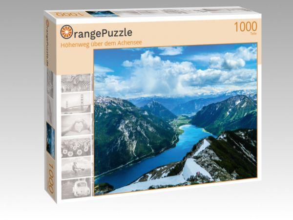 """Puzzle Motiv """"Höhenweg über dem Achensee"""" - Puzzle-Schachtel zu 1000 Teile Puzzle"""