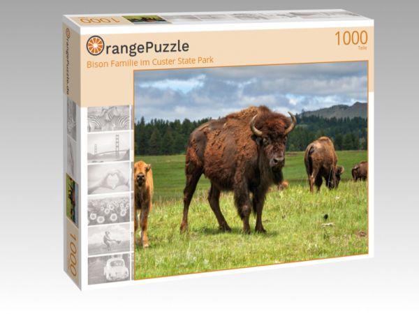 """Puzzle Motiv """"Bison Familie im Custer State Park"""" - Puzzle-Schachtel zu 1000 Teile Puzzle"""
