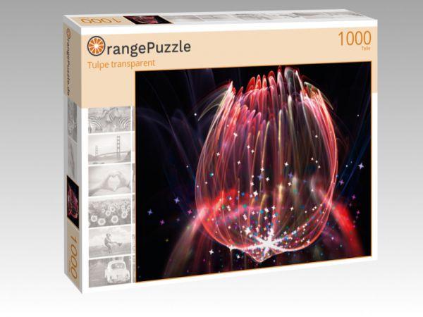 """Puzzle Motiv """"Tulpe transparent"""" - Puzzle-Schachtel zu 1000 Teile Puzzle"""