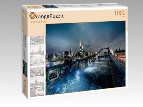 "Puzzle Motiv ""Eiserner Steg"" - Puzzle-Schachtel zu 1000 Teile Puzzle"