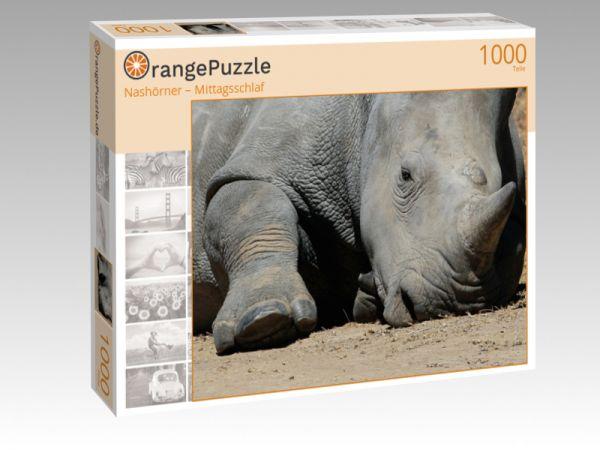 """Puzzle Motiv """"Nashörner – Mittagsschlaf"""" - Puzzle-Schachtel zu 1000 Teile Puzzle"""