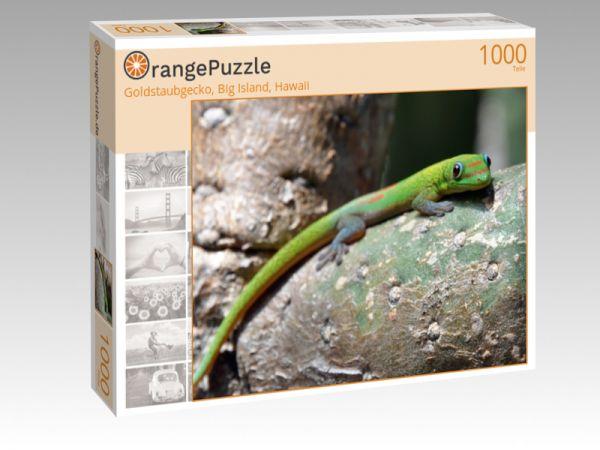 """Puzzle Motiv """"Goldstaubgecko, Big Island, Hawaii"""" - Puzzle-Schachtel zu 1000 Teile Puzzle"""