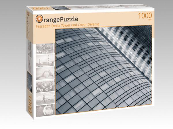 """Puzzle Motiv """"Fassaden Dexia Tower und Coeur Défense"""" - Puzzle-Schachtel zu 1000 Teile Puzzle"""