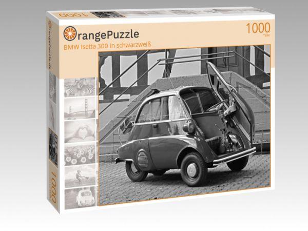 """Puzzle Motiv """"BMW Isetta 300 in schwarzweiß"""" - Puzzle-Schachtel zu 1000 Teile Puzzle"""