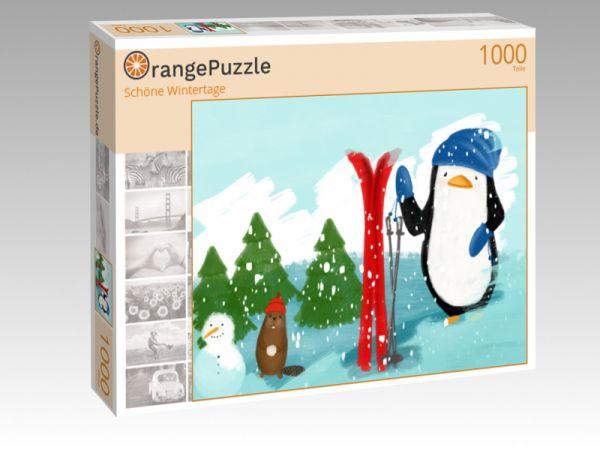 """Puzzle Motiv """"Schöne Wintertage"""" - Puzzle-Schachtel zu 1000 Teile Puzzle"""