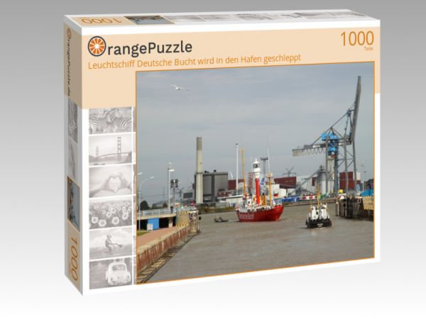 """Puzzle Motiv """"Leuchtschiff Deutsche Bucht wird in den Hafen geschleppt"""" - Puzzle-Schachtel zu 1000 Teile Puzzle"""