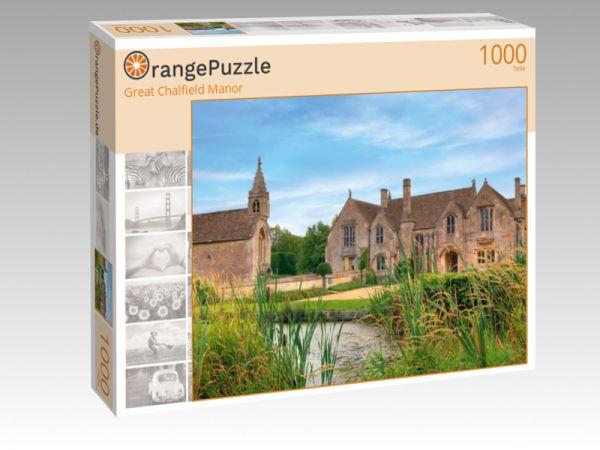 """Puzzle Motiv """"Great Chalfield Manor"""" - Puzzle-Schachtel zu 1000 Teile Puzzle"""