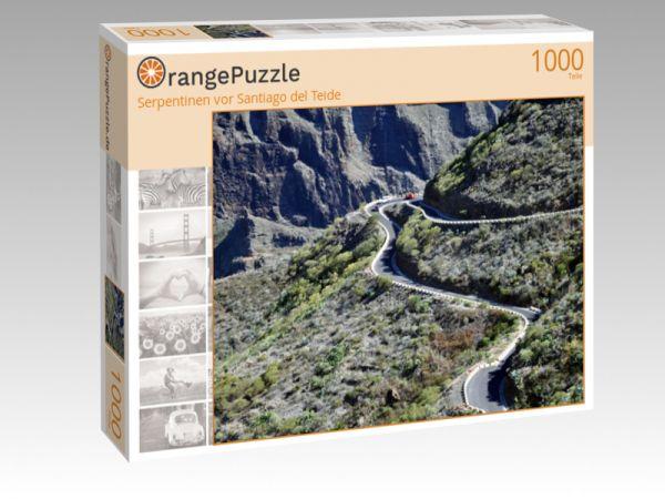 """Puzzle Motiv """"Serpentinen vor Santiago del Teide"""" - Puzzle-Schachtel zu 1000 Teile Puzzle"""