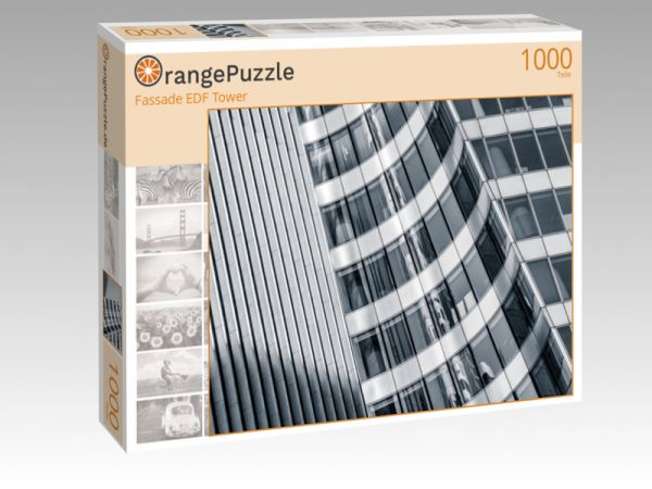 "Puzzle Motiv ""Fassade EDF Tower"" - Puzzle-Schachtel zu 1000 Teile Puzzle"