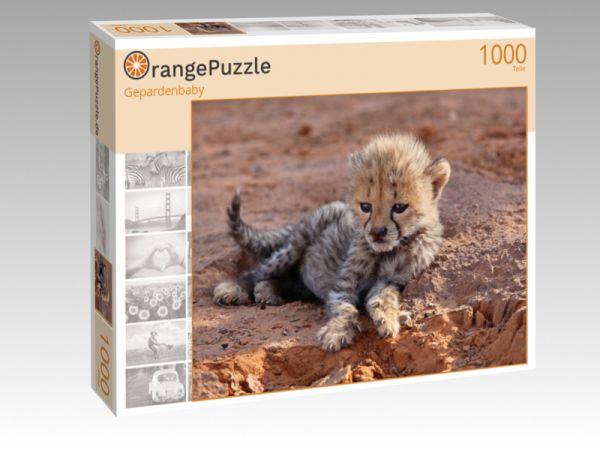 "Puzzle Motiv ""Gepardenbaby"" - Puzzle-Schachtel zu 1000 Teile Puzzle"