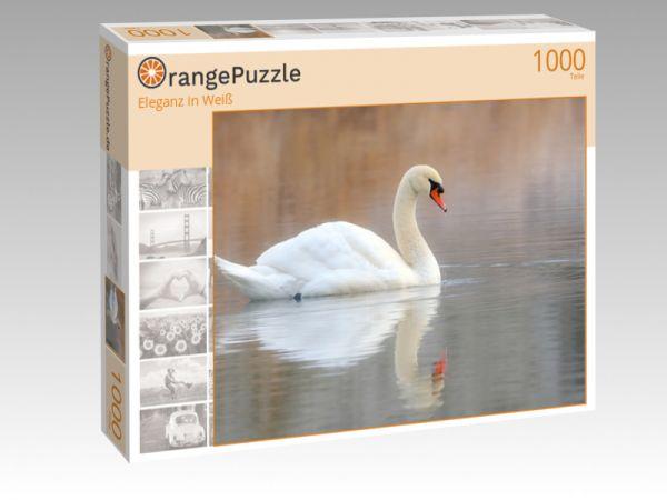 """Puzzle Motiv """"Eleganz in Weiß"""" - Puzzle-Schachtel zu 1000 Teile Puzzle"""