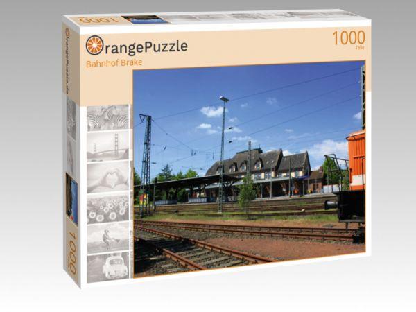 """Puzzle Motiv """"Bahnhof Brake"""" - Puzzle-Schachtel zu 1000 Teile Puzzle"""