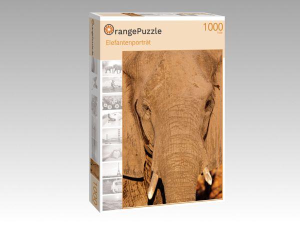 """Puzzle Motiv """"Elefantenporträt"""" - Puzzle-Schachtel zu 1000 Teile Puzzle"""