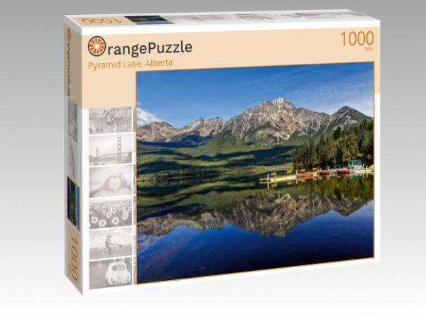 "Puzzle Motiv ""Pyramid Lake, Alberta"" - Puzzle-Schachtel zu 1000 Teile Puzzle"
