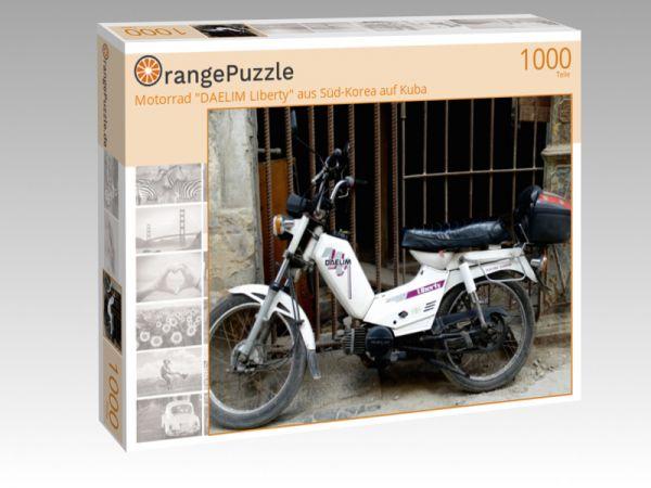 "Puzzle Motiv ""Motorrad ""DAELIM Liberty"" aus Süd-Korea auf Kuba"" - Puzzle-Schachtel zu 1000 Teile Puzzle"
