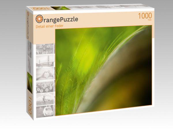 """Puzzle Motiv """"Detail einer Feder"""" - Puzzle-Schachtel zu 1000 Teile Puzzle"""
