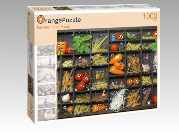 """Puzzle Motiv """"Pankies lieben Pasta"""" - Puzzle-Schachtel zu 1000 Teile Puzzle"""