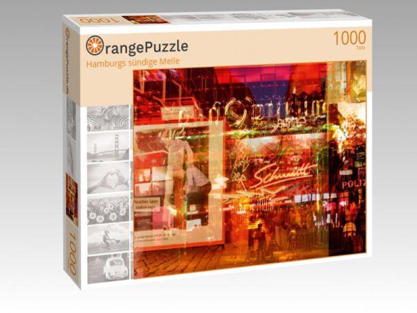 """Puzzle Motiv """"Hamburgs sündige Meile"""" - Puzzle-Schachtel zu 1000 Teile Puzzle"""