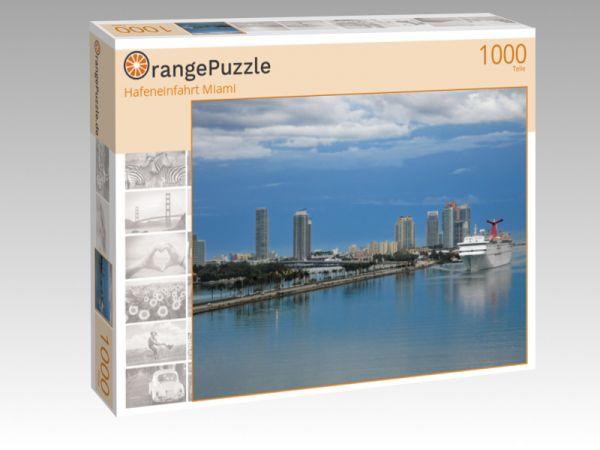 "Puzzle Motiv ""Hafeneinfahrt Miami"" - Puzzle-Schachtel zu 1000 Teile Puzzle"