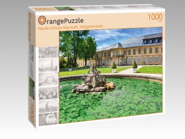 """Puzzle Motiv """"Neues Schloss Bayreuth, Hofgartenseite"""" - Puzzle-Schachtel zu 1000 Teile Puzzle"""