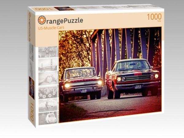 """Puzzle Motiv """"US-Muscle-Cars"""" - Puzzle-Schachtel zu 1000 Teile Puzzle"""
