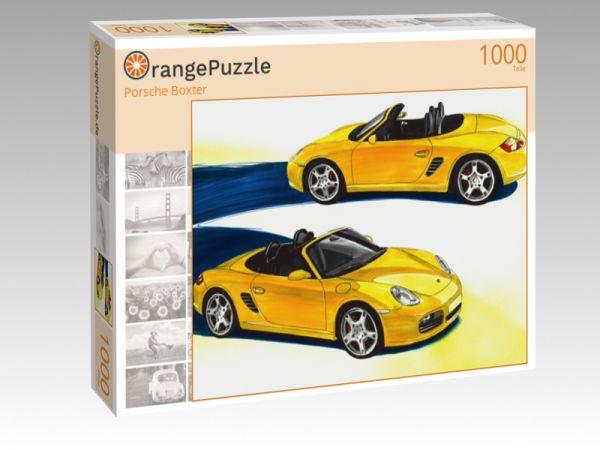 """Puzzle Motiv """"Porsche Boxter"""" - Puzzle-Schachtel zu 1000 Teile Puzzle"""