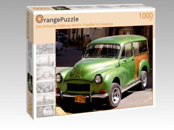 """Puzzle Motiv """"Der britische Oldtimer Morris Traveller in Havanna"""" - Puzzle-Schachtel zu 1000 Teile Puzzle"""