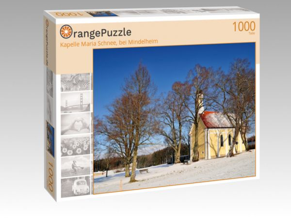 """Puzzle Motiv """"Kapelle Maria Schnee, bei Mindelheim"""" - Puzzle-Schachtel zu 1000 Teile Puzzle"""