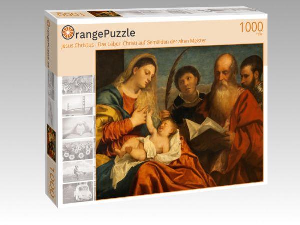 """Puzzle Motiv """"Jesus Christus - Das Leben Christi auf Gemälden der alten Meister"""" - Puzzle-Schachtel zu 1000 Teile Puzzle"""