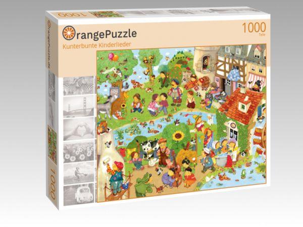 "Puzzle Motiv ""Kunterbunte Kinderlieder"" - Puzzle-Schachtel zu 1000 Teile Puzzle"