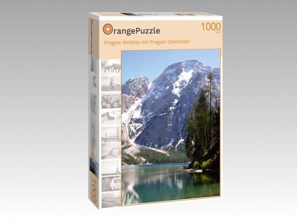 """Puzzle Motiv """"Pragser Wildsee mit Pragser Dolomiten"""" - Puzzle-Schachtel zu 1000 Teile Puzzle"""