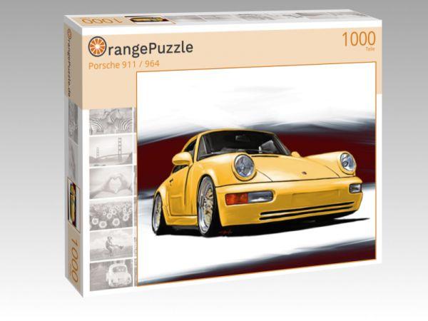 """Puzzle Motiv """"Porsche 911 / 964"""" - Puzzle-Schachtel zu 1000 Teile Puzzle"""
