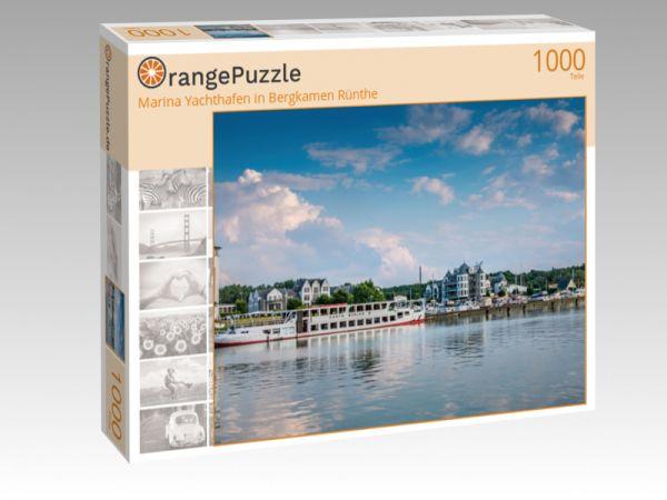 """Puzzle Motiv """"Marina Yachthafen in Bergkamen Rünthe"""" - Puzzle-Schachtel zu 1000 Teile Puzzle"""